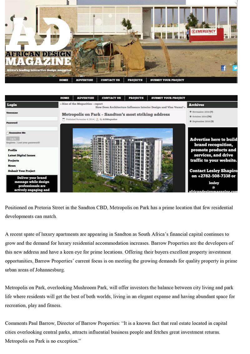 4-Nov_Africandesignmagazine_Metropolis-on-Park---Sandton's-most-striking-address-Pdf-1